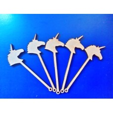 3mm MDF Mini Unicorn wand Laser Cut PK5